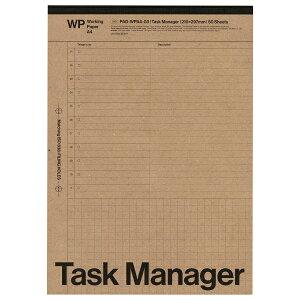 A4 レポートパッド Task Manager(タスクマネージャー)ワーキングペーパー PAD-WPA4-03【あす楽対応】