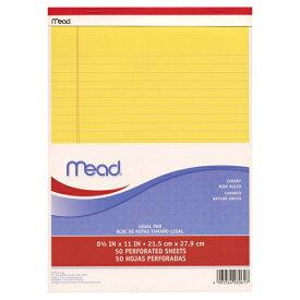 【Mead/ミード】リーガルパッド A4変型サイズ(レターサイズ)50枚綴り MLP59604 【あす楽対応】