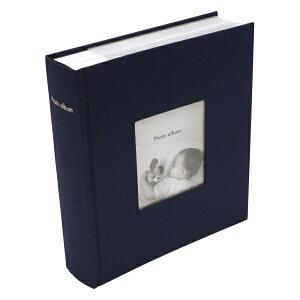 フォトフレームアルバム コルソグラフィア【ネイビー】ポストカードサイズ200枚収納可 CG-AL11-NV【あす楽対応】