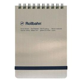 【DELFONICS/デルフォニックス】ロルバーン ポケット付メモ メタリック 縦型 Mサイズ【シルバー】 NRP19 SV 【あす楽対応】