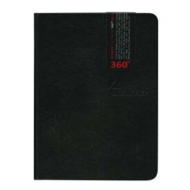 A6変形 ZEQUENZ/ジークエンス360 S 横罫 ブラック ZQ010「あす楽対応」