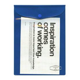 A5サイズ ビニールブリーフケース【ブルー】VC26 500111-386【あす楽対応】