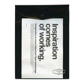A5サイズ ビニールブリーフケース【ブラック】VC26 500111-105【あす楽対応】