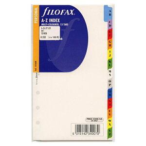 ファイロファックス バイブルサイズ A-Zインデックス 13タブ【マルチカラー】システム手帳リフィル F131608【あす楽対応】