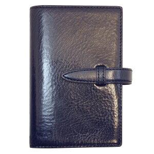 【送料無料】数量限定 ポケットサイズ イタリアンスムース・バインダー リング径15mm【ロイヤルネイビー】 64460【あす楽対応】