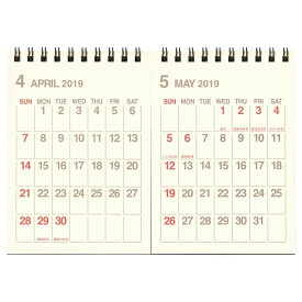 【etranger di costarica/エトランジェ・ディ・コスタリカ】B6 2ヶ月カレンダー 卓上【アイボリー】<2019年4月から2020年3月対応> CLT43-H-01 【あす楽対応】