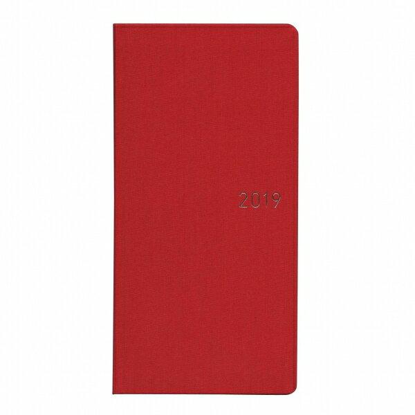 【ほぼ日】B6変型 手帳 WEEKS カラーズ【スカーレット】2018年12月から2019年12月  【あす楽対応】