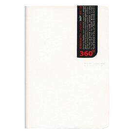 B6 ZEQUENZ/ジークエンス360 M 横罫 ホワイト ZQ206 WH「あす楽対応」