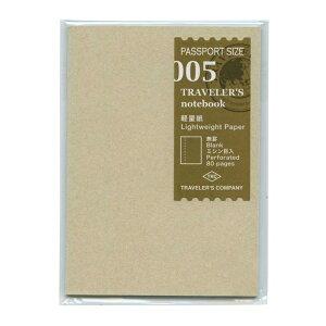 ミドリ/デザインフィル トラベラーズノート パスポートサイズ リフィル【軽量紙】 14371006【あす楽対応】