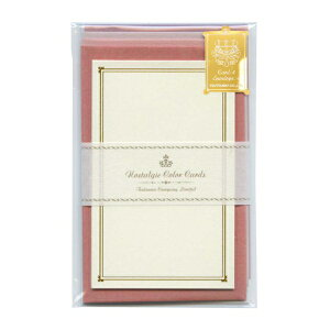 包む メッセージカード ノスタルジックカラー 【ピンク】 TC030【あす楽対応】