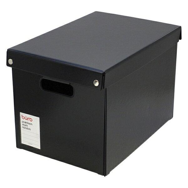 【DELFONICS/デルフォニックス】ビュロー ボックス 深型 L【ブラック】 500321-105 【あす楽対応】