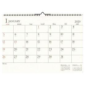 A3カレンダー 壁掛け【アイボリー】 2020年1月から2020年12月対応 CLG-A3-01【あす楽対応】