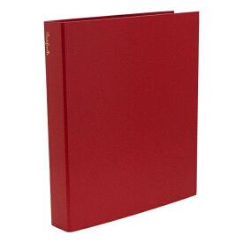 A4 システムアルバム 4穴 クイール/CUIR 紙クロス【レッド】 CUIR-11-02【あす楽対応】