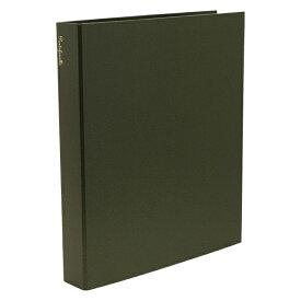 A4 システムアルバム 4穴 クイール/CUIR 紙クロス【グリーン】 CUIR-11-03【あす楽対応】