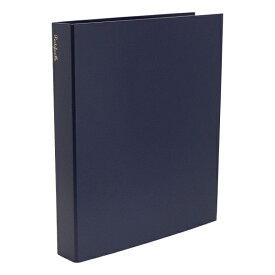 A4 システムアルバム 4穴 クイール/CUIR 紙クロス【ブルー】 CUIR-11-04【あす楽対応】