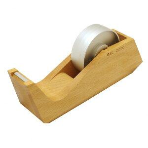 【送料無料(一部地域除く)】木製 テープディスペンサー【ナチュラル】 テープカッター OAPH2-033NA【あす楽対応】