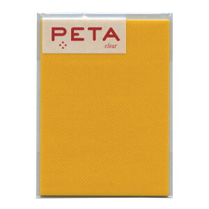 PETA/ペタ のり付箋 clear Lサイズ【レモン】 1736304【あす楽対応】