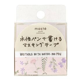 水性ペンで書けるマスキングテープ/小巻/マステ 15mm×10m【フラワー・ソウガラ】 MST-FA23-C【あす楽対応】