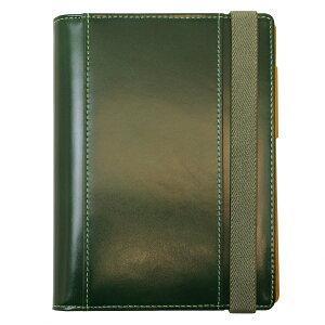 【送料無料(一部地域除く)】A6サイズ 手帳カバー グレインレザー Live Diary 【グリーン】 GTH-1110-GR【あす楽対応】