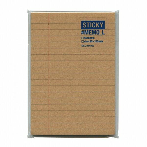 【DELFONICS/デルフォニックス】スティッキー 付箋メモ Lサイズ【クラフト】 500003-904 【あす楽対応】
