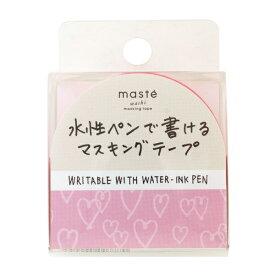 水性ペンで書けるマスキングテープ/小巻/マステ 15mm×10m【ハート】 MST-FA21-D【あす楽対応】