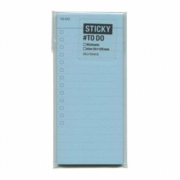 【DELFONICS/デルフォニックス】スティッキー 付箋メモ TODO【ライトブルー】 500006-360 【あす楽対応】
