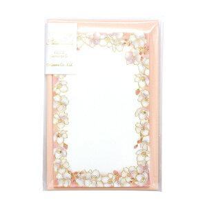 包む ミニカード【桜】メッセージカード 封筒付き かわいい TC043【あす楽対応】