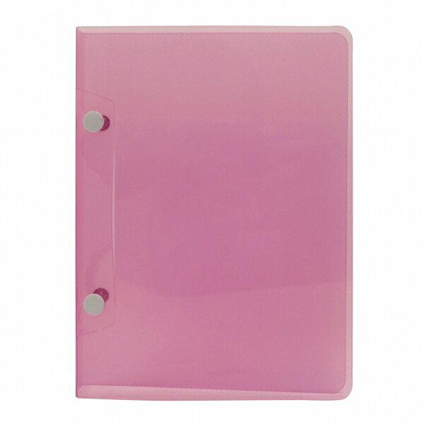【エイチ・エス】A5サイズ 2穴 システム保存 バインダー【ピンク】 HS42666-Sピンク 【あす楽対応】