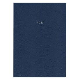 2021年 手帳 A5変型 週間ノート スープル・プリュス 【インディゴブルー】 21WDR-ETH01-NV【あす楽対応】