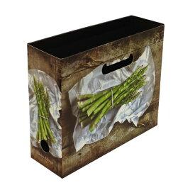 A4 ファイルボックス 横型 野菜/Verdura M【アスパラ】 VERD-51-16【あす楽対応】