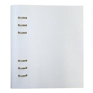 【送料無料(一部地域除く)】A5サイズ クリップブック クラシック リング径25mm 【ホワイト】 023610【あす楽対応】