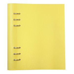 【送料無料(一部地域除く)】A5サイズ クリップブック クラシック リング径25mm 【レモン】 145000【あす楽対応】