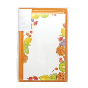 包む ミニカード【フルーツ】メッセージカード 封筒付き かわいい TC049【あす楽対応】