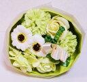 ソープフラワー ソープミックスブーケMサイズ グリーン 石鹸の花束【おすすめ用途】母の日 子供の日 誕生日 結婚式 発…