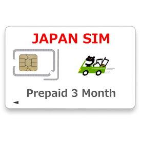 JAPAN SIM Prepaid Plan LTE Unlimited 3 Month Data Only Nano SIM プリペイドSIM 3ヶ月 無制限プラン