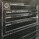 レーザー刻印 平4枠 厚さ測定定規 (頑丈な5mmアクリル)カラフル 郵便 スケール 定規 ネコポス ゆうパケット クリック…