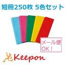 短冊250枚 5色セット (6個までメール便可能)七夕/たなばた/折り紙/飾り