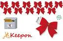クリスマス飾り 赤いリボン12個組(メール便可能) クリスマスグッズ/イベント/ミニリース/手作り/工作キット/ツリー/…