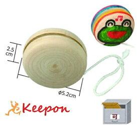 木製コンパクトヨーヨー(ひも付)(メール便可能) おもちゃ/ゲーム/お正月/ヨーヨー