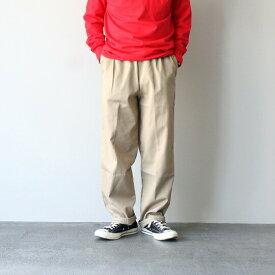 【5と0の付く日限定!ポイント5倍!】CLARK'S SPORTSWEAR クラークススポーツウェア TWILL PANTS HEM LEG ツイルパンツ ロング イージーパンツ メンズ レディース デニム チノ