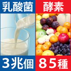 乳酸菌3兆個、酵素85種類、ケフィア酵母3種類が入った発酵サプリ