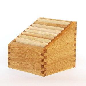 ステップアップボックス【日本製】【木製】【ポストカード】【カード立て】【飛騨高山 オークヴィレッジ Oak Village】