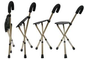 人気商品!送料無料!簡単高さ調整!椅子になるステッキ「ステッキチェアー」STCH福祉・介護歩行関連用品ステッキ・杖
