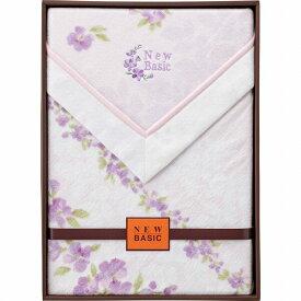 【景品 現物】 ニューベーシック 四方額付き綿毛布(毛羽部分) パープル RNB-4052