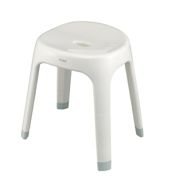 【アスベル・ASVEL】 エミール Emeal 風呂イス S35 W ホワイト 高さ35cm (4974908564390・Emeal・バス・風呂イス・ふろいす・風呂椅子)
