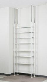菊屋 突っ張り ラック78 8段 TP-5405 棚 白 つっぱり