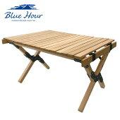 BlueHourコンパクトウッドテーブルショートK-10347アウトドア天然木キャンプ4582451300336