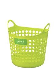 イノマタ化学 コモバスケットM グリーン 4905596446217 洗濯 かご おもちゃ入れ ランドリー 収納 ソフト素材