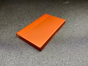 名刺ケース 名刺入れ カードケース マットオレンジ オレンジ メンズ レディース 誕生日 プレゼント 入学 卒業 就職 祝い アルミ アルミニウム