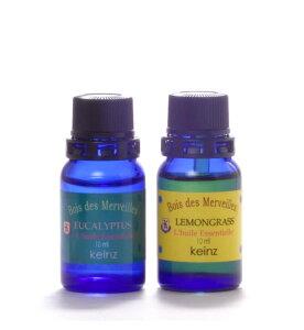 keinz エッセンシャルオイル「ユーカリプタス10ml&レモングラス10ml」2種1セット ケインズ正規品 製造国アメリカ 完全無添加 人工香料は使っていません。